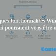 Fonctionnalités Windows 10